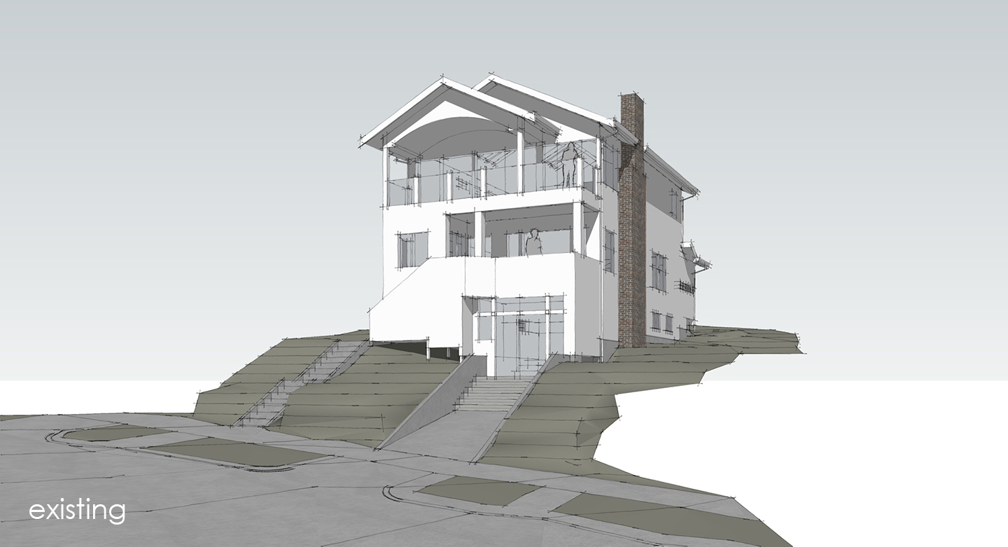 Schematic 3D rendering of a modern remodel in Seattle, WA
