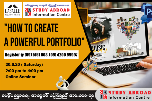 """How to Create a Powerful Portfolio"" (Contact: 09 5151008, 09 420099997)"