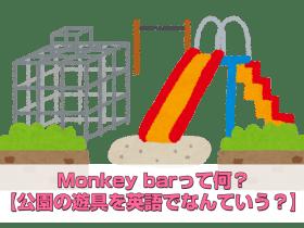 Monkey barって何?【公園の遊具を英語でなんていう?】