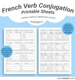 French Verbs Worksheet   Printable Worksheets and Activities for Teachers [ 1588 x 1588 Pixel ]