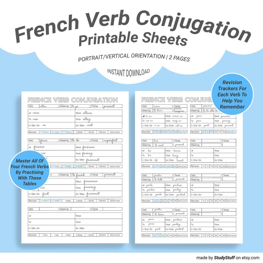 medium resolution of French Verbs Worksheet   Printable Worksheets and Activities for Teachers