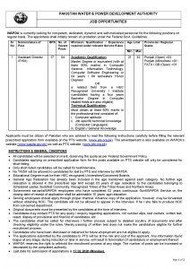 WAPDA Phase VI Jobs PTS Roll No Slip 2021 Online Download