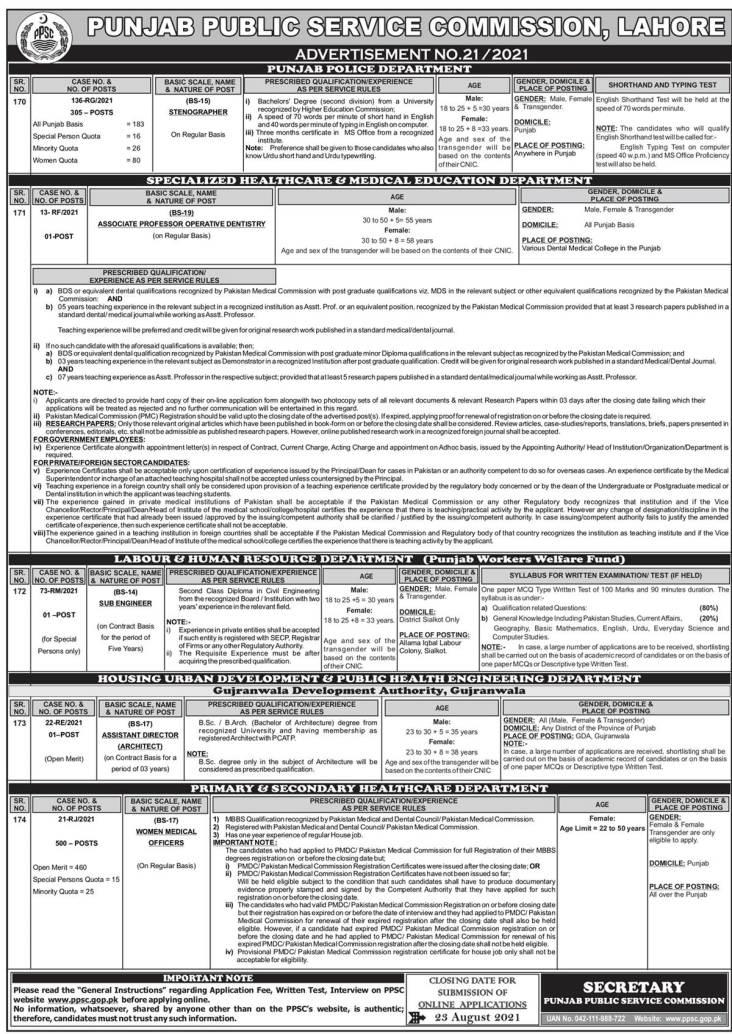Punjab Police Stenographer PPSC Jobs 2021 Apply Online Roll No Slips Interview Schedule