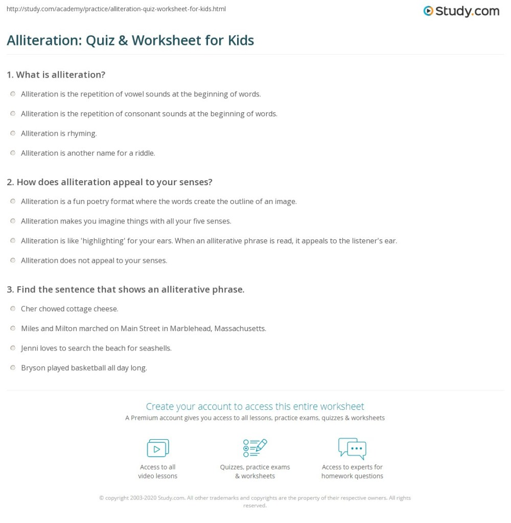 medium resolution of Alliterations Worksheet   Printable Worksheets and Activities for Teachers