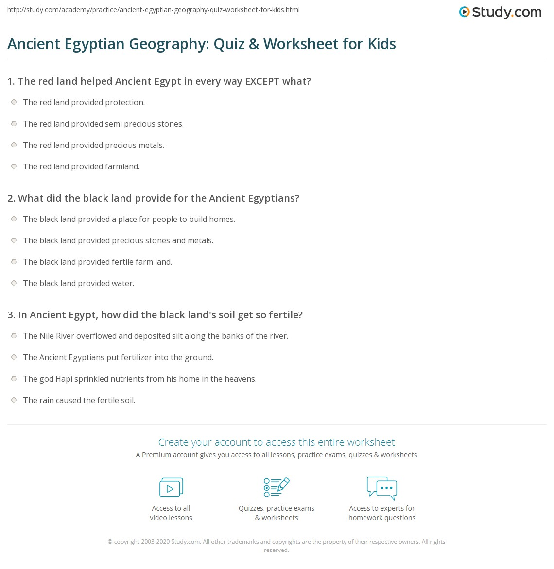 hight resolution of Ancient Egyptian Geography: Quiz \u0026 Worksheet for Kids   Study.com