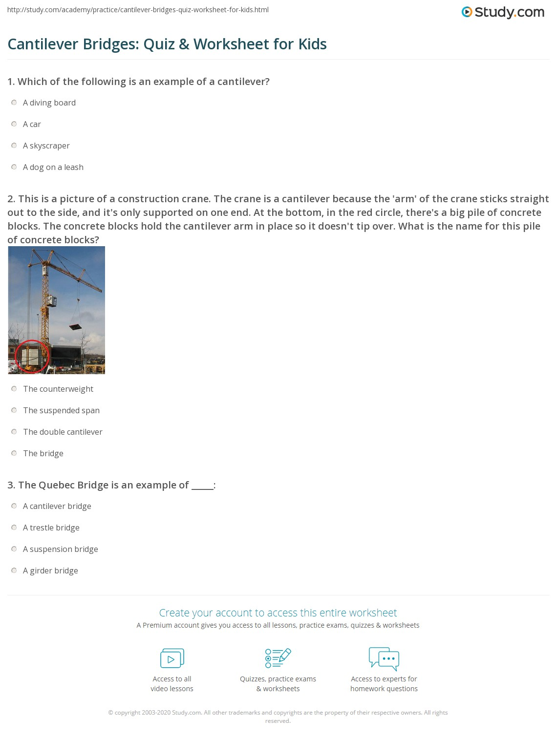 Bridge Worksheet
