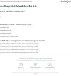 Colon Usage: Quiz \u0026 Worksheet for Kids   Study.com [ 1125 x 1140 Pixel ]
