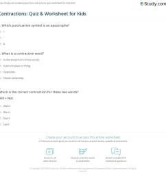 Contractions: Quiz \u0026 Worksheet for Kids   Study.com [ 1161 x 1140 Pixel ]