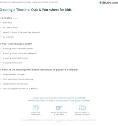Creating a Timeline: Quiz \u0026 Worksheet for Kids   Study.com [ 1169 x 1140 Pixel ]