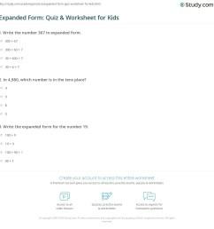 Expanded Form: Quiz \u0026 Worksheet for Kids   Study.com [ 1169 x 1140 Pixel ]