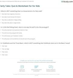 Fairly Tales: Quiz \u0026 Worksheet for for Kids   Study.com [ 1169 x 1140 Pixel ]