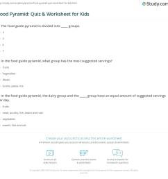 Food Pyramid: Quiz \u0026 Worksheet for Kids   Study.com [ 1149 x 1140 Pixel ]