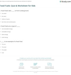 Fossil Fuels: Quiz \u0026 Worksheet for Kids   Study.com [ 1169 x 1140 Pixel ]