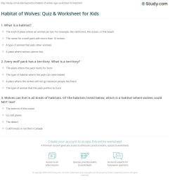 Wolf Habitats Worksheets   Printable Worksheets and Activities for  Teachers [ 1197 x 1140 Pixel ]