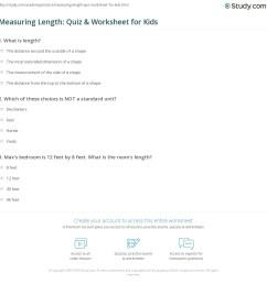 Measuring Length: Quiz \u0026 Worksheet for Kids   Study.com [ 1169 x 1140 Pixel ]