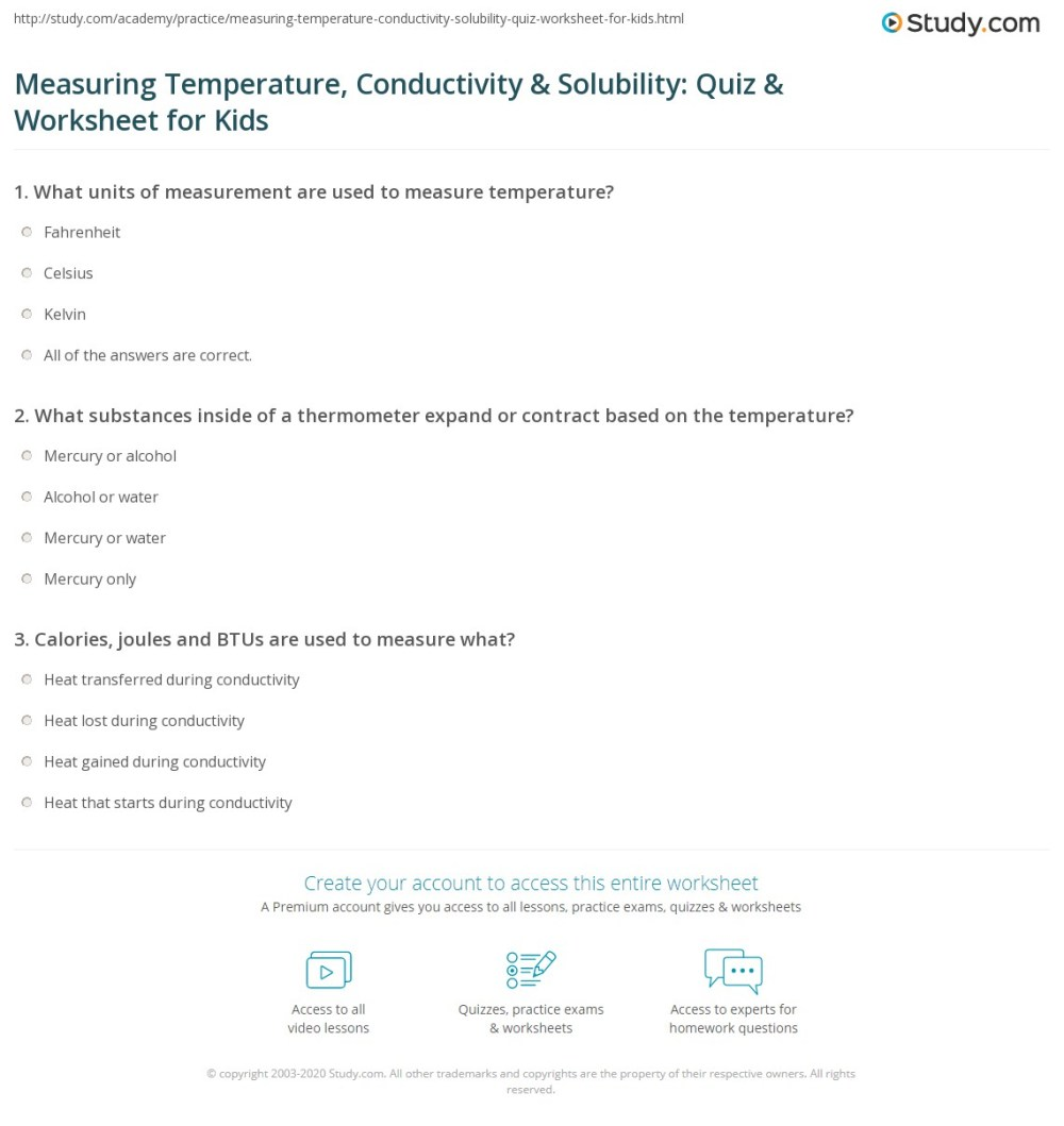 medium resolution of Measuring Temperature