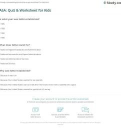 NASA: Quiz \u0026 Worksheet for Kids   Study.com [ 1121 x 1140 Pixel ]
