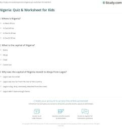 Nigeria: Quiz \u0026 Worksheet for Kids   Study.com [ 1169 x 1140 Pixel ]