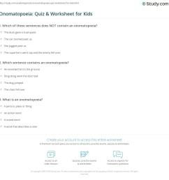 Onomatopoeia: Quiz \u0026 Worksheet for Kids   Study.com [ 1169 x 1140 Pixel ]