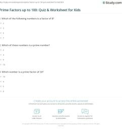 Prime Factors up to 100: Quiz \u0026 Worksheet for Kids   Study.com [ 1169 x 1140 Pixel ]