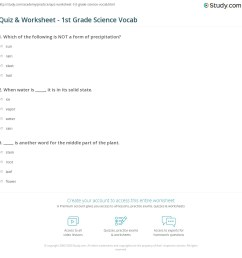 Quiz \u0026 Worksheet - 1st Grade Science Vocab   Study.com [ 1169 x 1140 Pixel ]