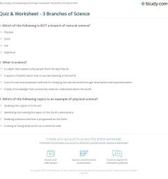 Quiz \u0026 Worksheet - 3 Branches of Science   Study.com [ 1169 x 1140 Pixel ]