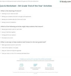 Quiz \u0026 Worksheet - 5th Grade 'End of the Year' Activities   Study.com [ 1169 x 1140 Pixel ]