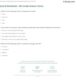 Quiz \u0026 Worksheet - 6th Grade Science Terms   Study.com [ 1169 x 1140 Pixel ]