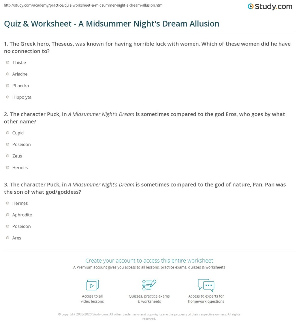 medium resolution of Allusions Worksheet Answers   Printable Worksheets and Activities for  Teachers