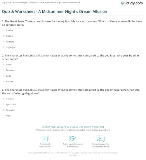 small resolution of Allusions Worksheet Answers   Printable Worksheets and Activities for  Teachers