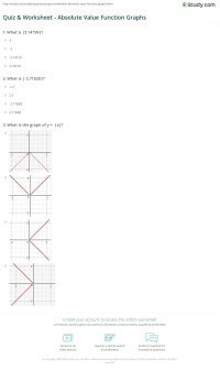 Printables. Absolute Value Functions Worksheet. Mywcct ...