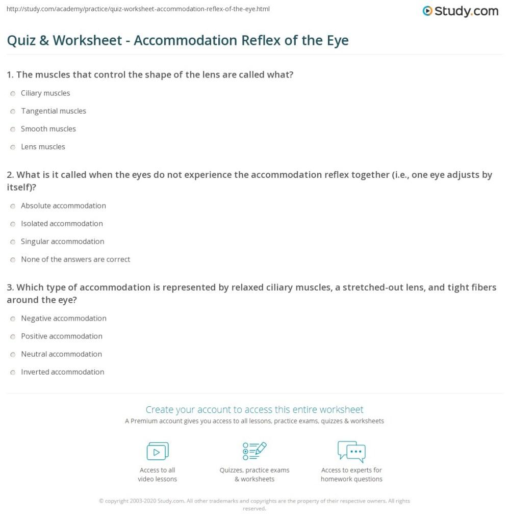 medium resolution of print accommodation reflex of the eye definition purpose worksheet