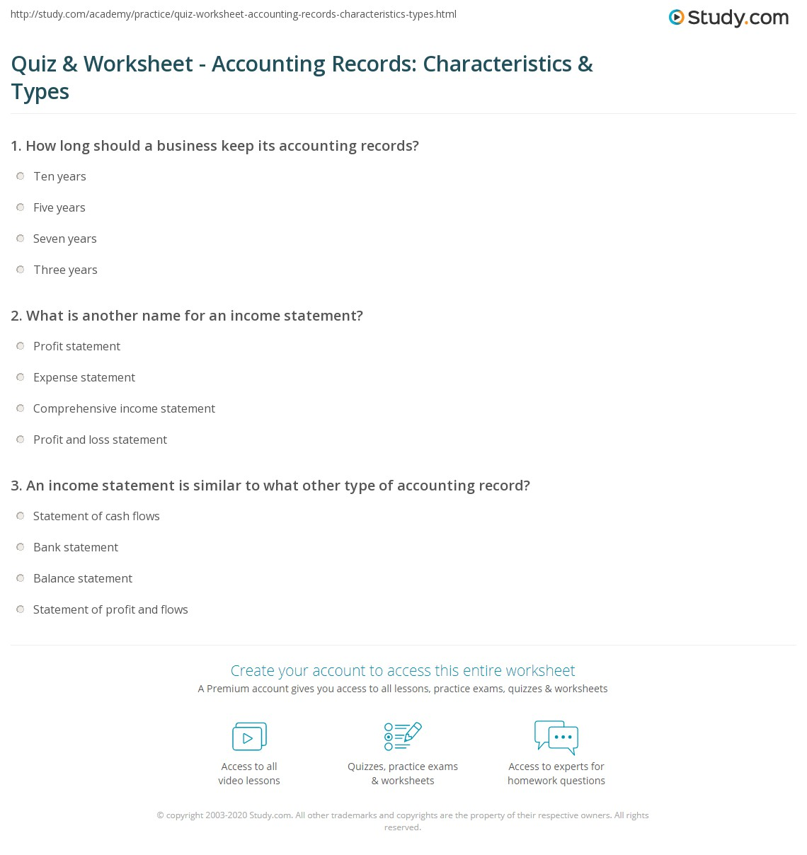 Worksheet Accounting Definition