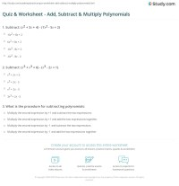 Add Subtract Multiply Divide Worksheet