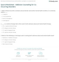 Co Occurring Disorders Worksheets - Rcnschool