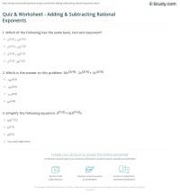 Dividing Exponents Worksheet Doc - rational exponents ...