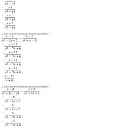 Quiz \u0026 Worksheet - Adding \u0026 Subtracting Rational Expressions Practice  Problems   Study.com [ 2015 x 1140 Pixel ]