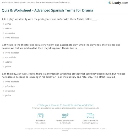 small resolution of Free Advanced Spanish Worksheets   Printable Worksheets and Activities for  Teachers
