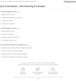 Quiz \u0026 Worksheet - Affix Meaning \u0026 Examples   Study.com [ 1169 x 1140 Pixel ]
