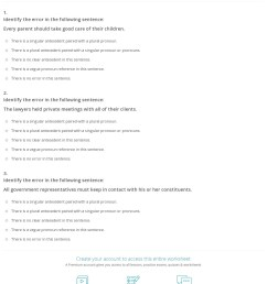 Pronoun Antecedent Agreement Worksheet - Promotiontablecovers [ 1520 x 1140 Pixel ]