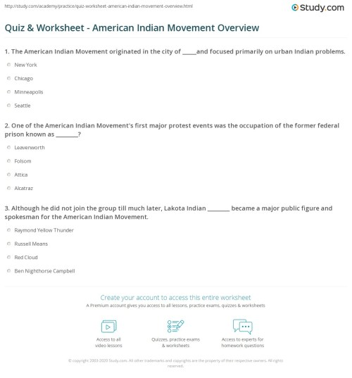 small resolution of American Indians Worksheet   Printable Worksheets and Activities for  Teachers