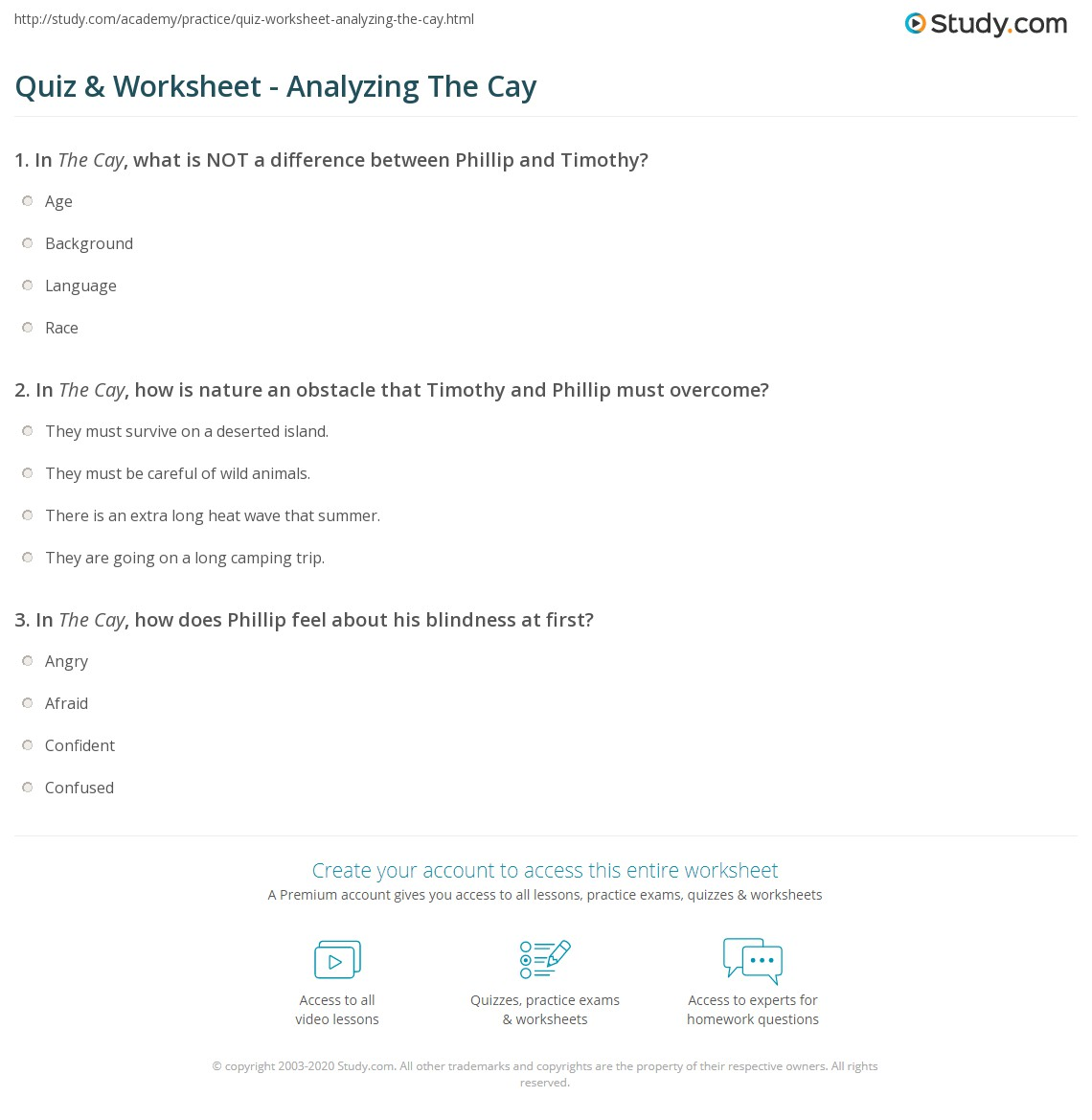 The Cay Theme Worksheet Printable Worksheets And Activities For Teachers Parents Tutors And Homeschool Families High quality reading comprehension worksheets for all ages and ability levels. indymoves org