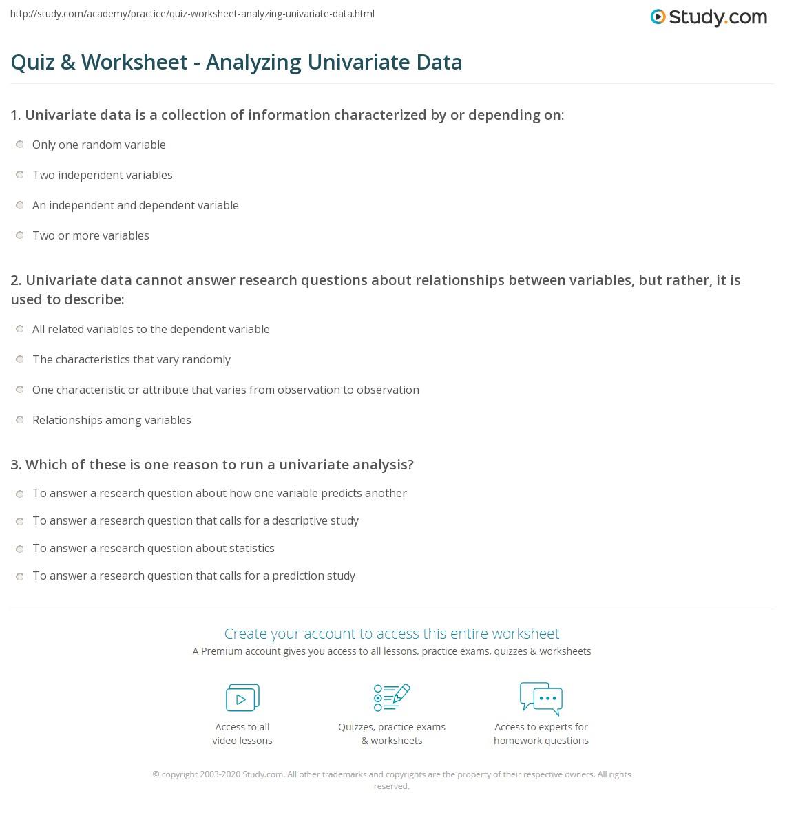 34 Dataysis Worksheet Answers