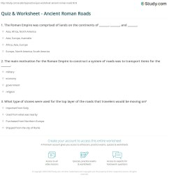 Roman Technology Worksheets   Printable Worksheets and Activities for  Teachers [ 1197 x 1140 Pixel ]