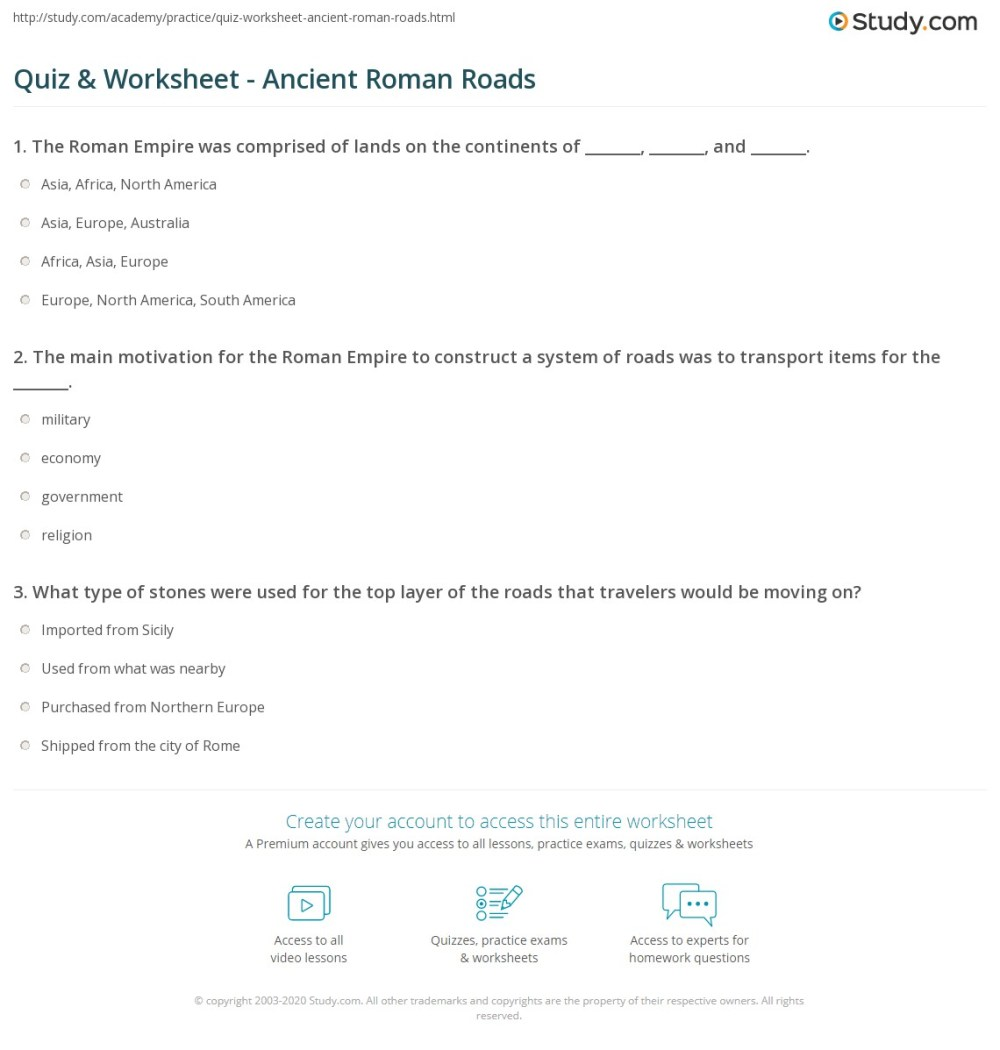 medium resolution of Roman Technology Worksheets   Printable Worksheets and Activities for  Teachers