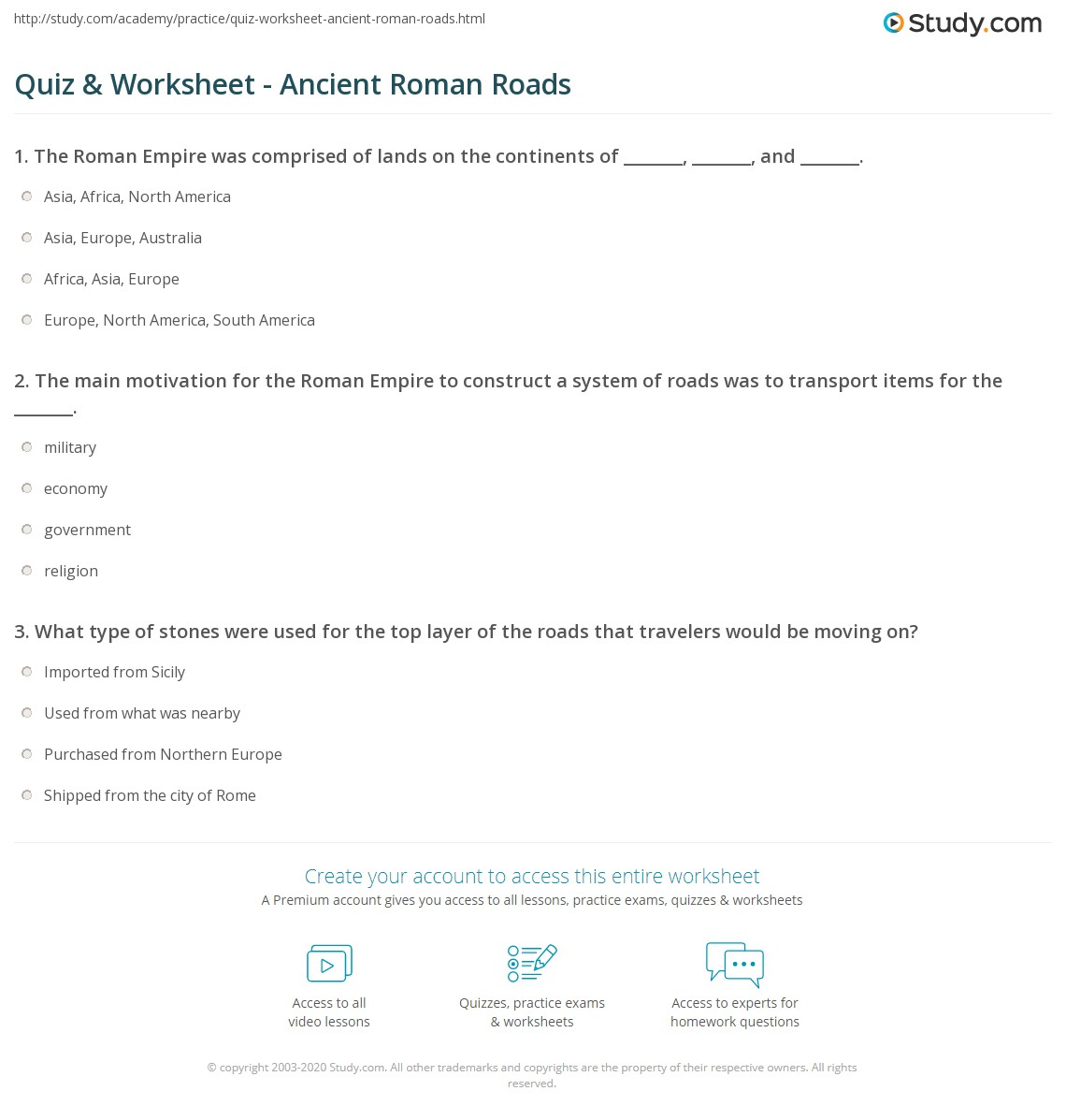 hight resolution of Roman Technology Worksheets   Printable Worksheets and Activities for  Teachers