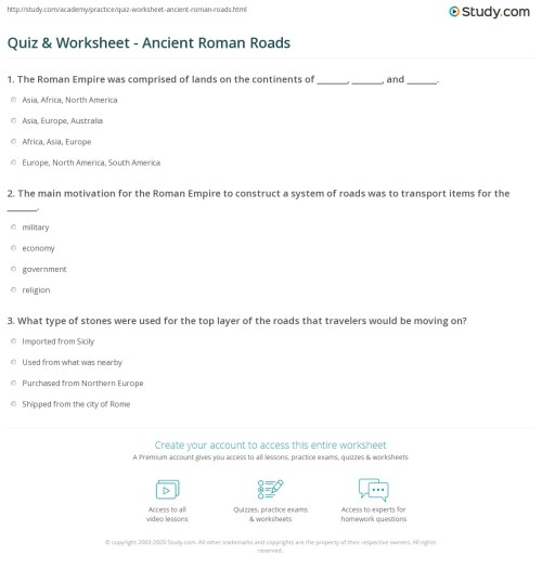 small resolution of Roman Technology Worksheets   Printable Worksheets and Activities for  Teachers