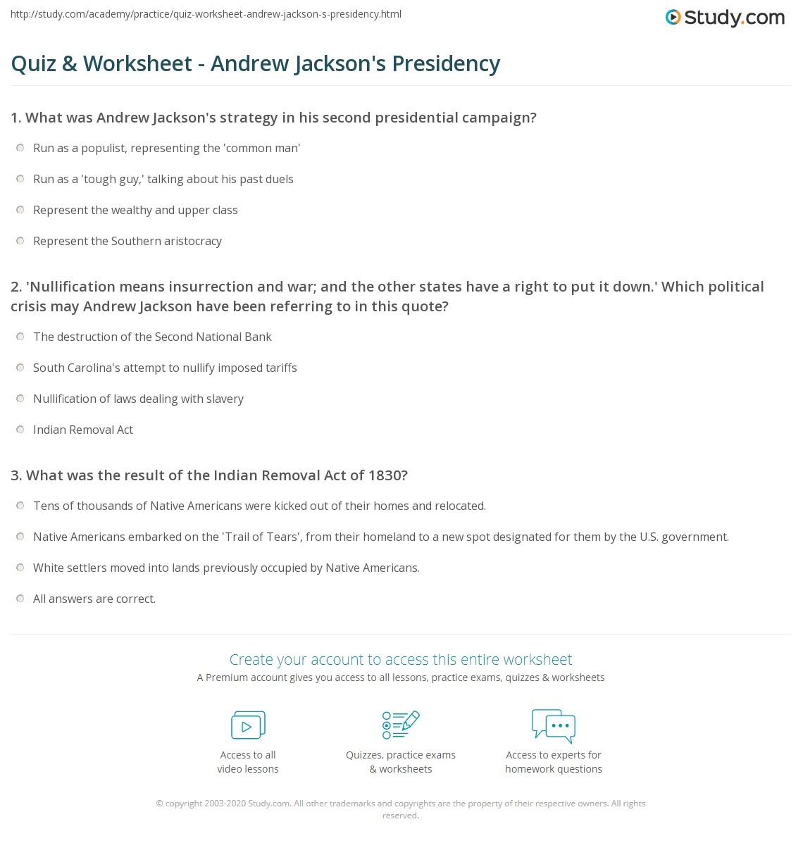 Andrew Jackson S Presidency