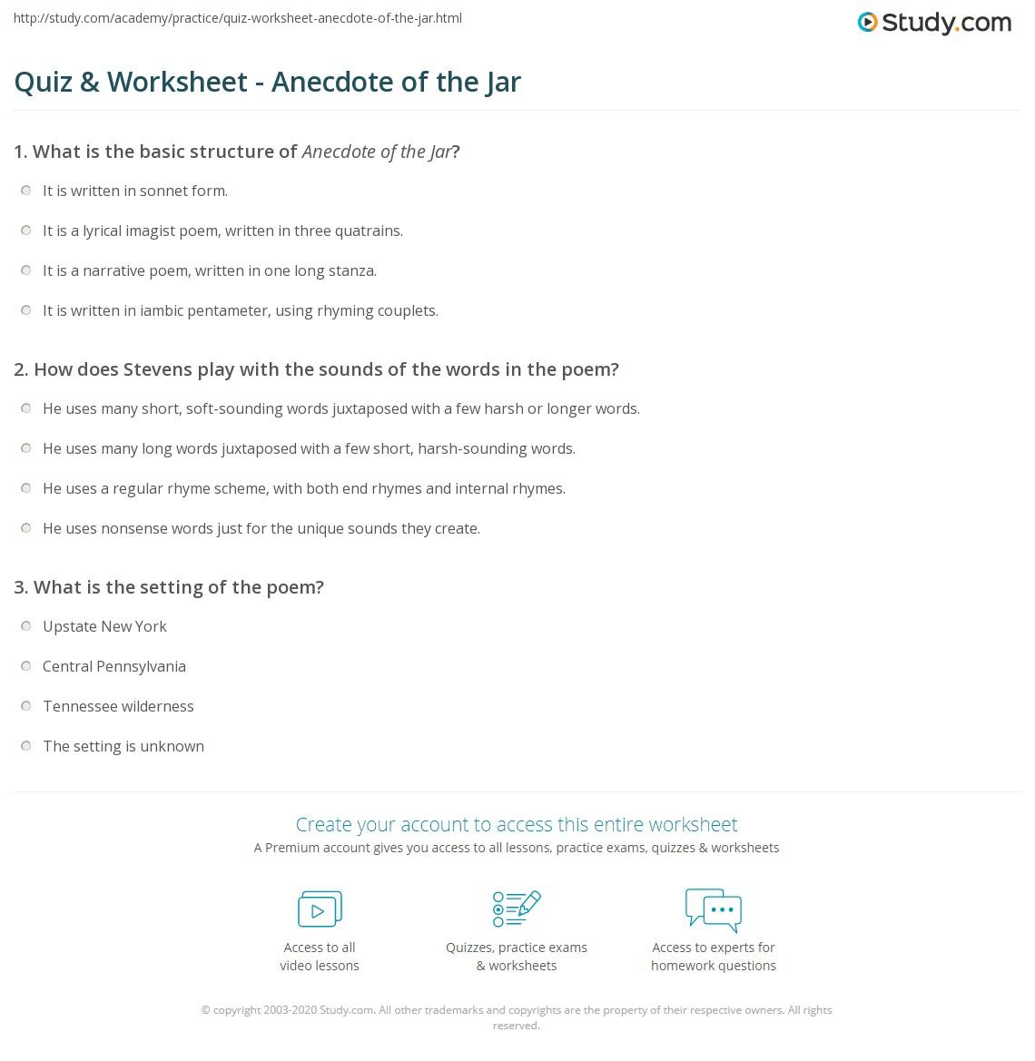 Jar Worksheets Donvns
