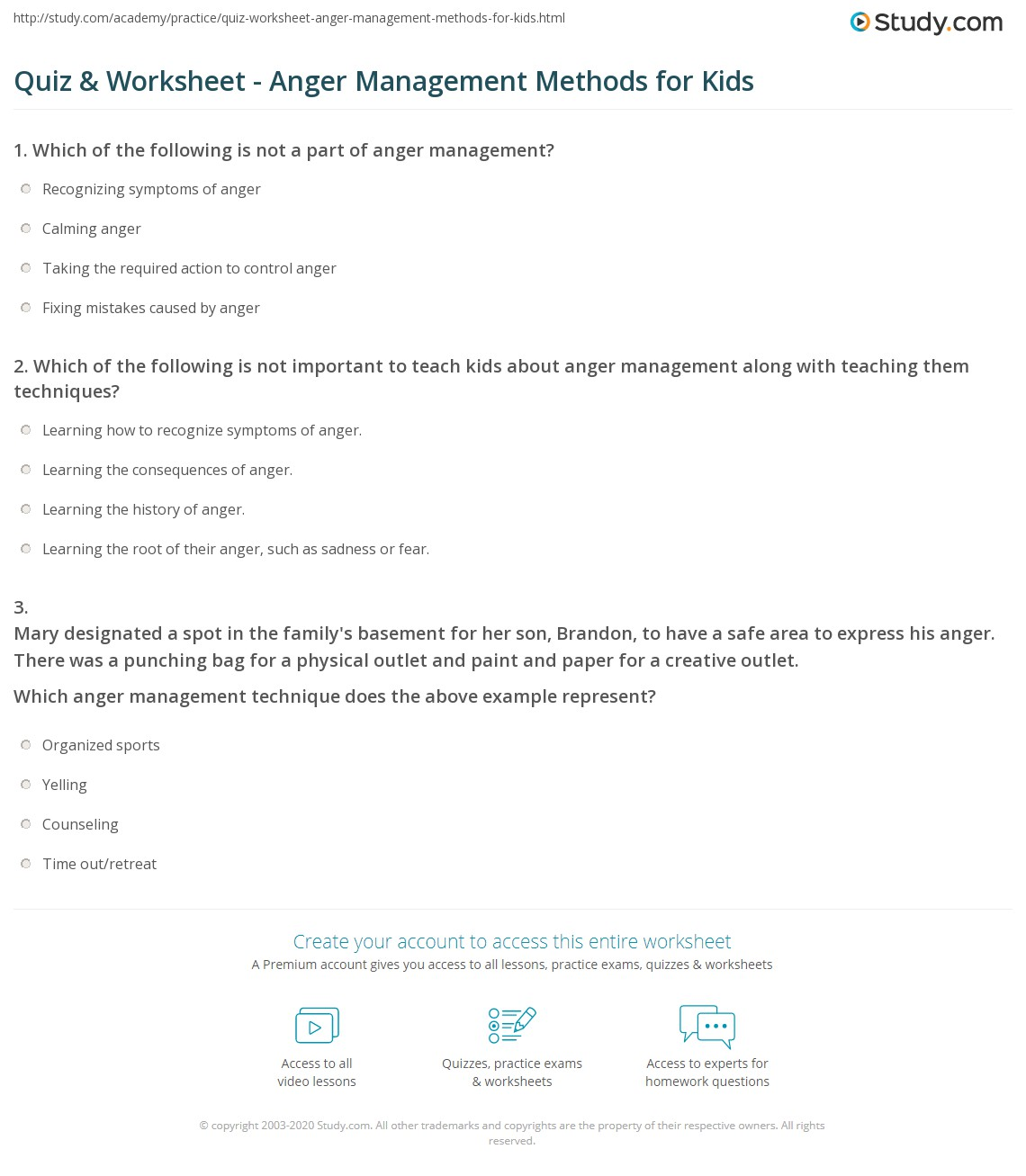 The Best Anger Management Quiz Printable